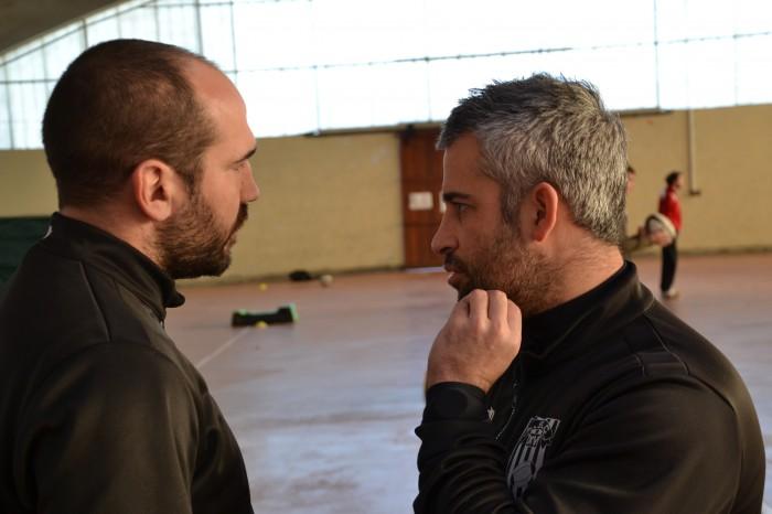Rugby LSC - Discussion matinale entre Christophe Lafforgue et Jérôme Balaguer