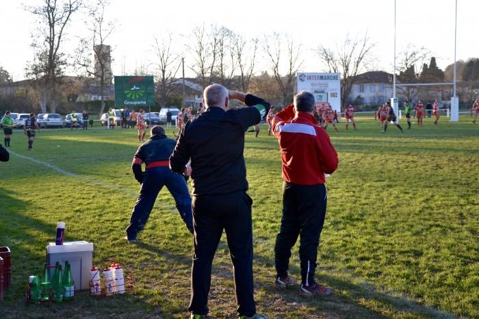 Rugby LSC - Le LSC a repris l'avantage mais ça chauffe près de sa ligne d'en-but...