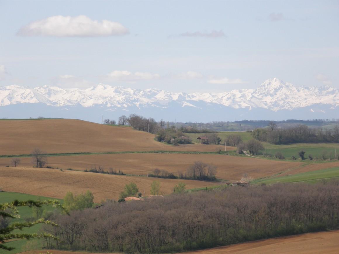 Laymont - Vue sur les Pyrénées