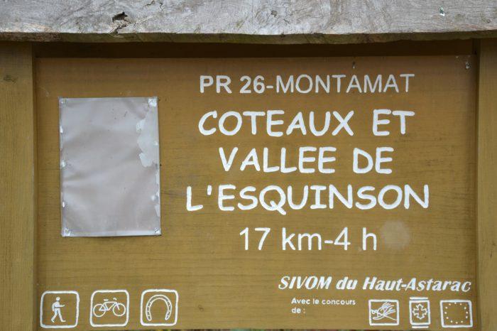 Montamat - Montamat - le panneau indicateur du PR26
