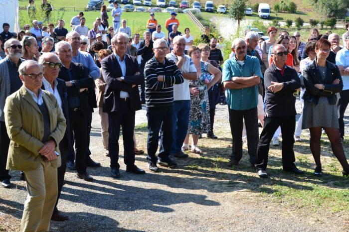 Inauguration de l'espace paysager Jean Bertin de Monblanc -septembre 2017 - L'assistance