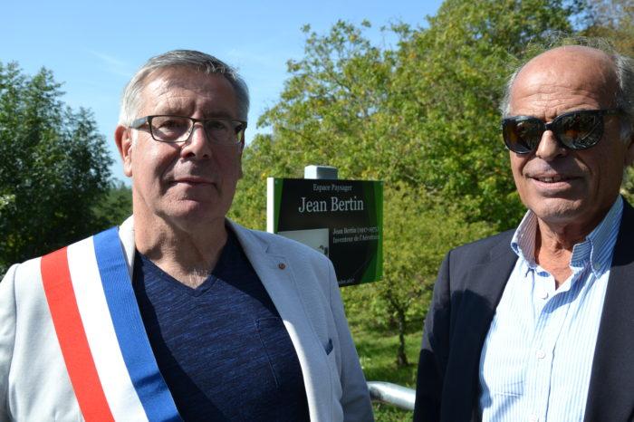 Inauguration de l'espace paysager Jean Bertin de Monblanc -septembre 2017 - Alain Gateau et Philippe Bertin
