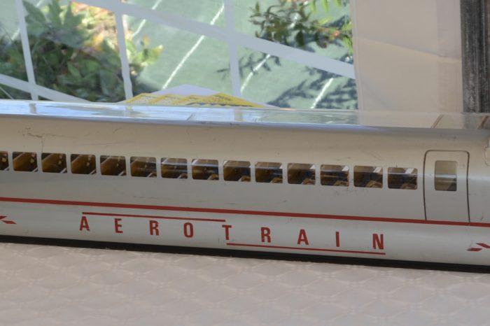 Inauguration de l'espace paysager Jean Bertin de Monblanc -septembre 2017 - maquette de l'Aérotrain
