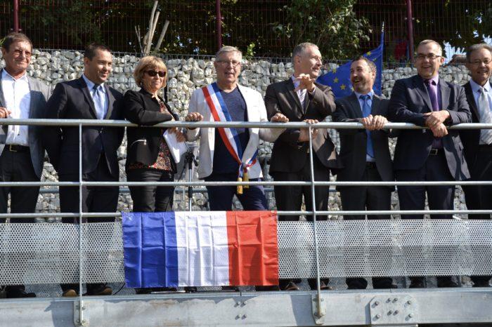 Inauguration de l'espace paysager Jean Bertin de Monblanc -septembre 2017 - Avant les discours
