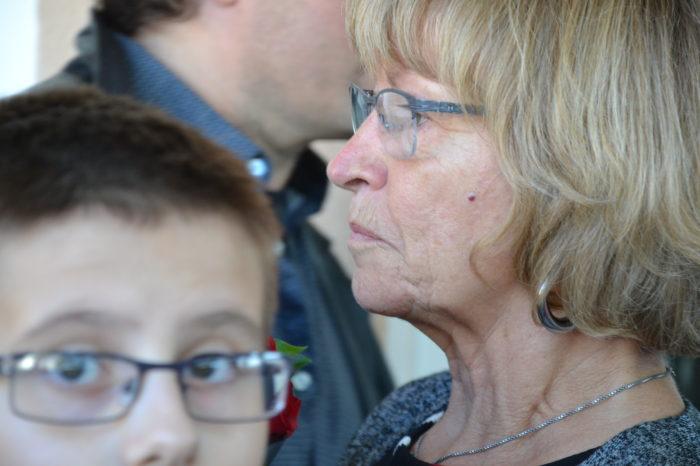 Ecole de Monblanc - octobre 2017 - Yvette Ribes, émue mais digne