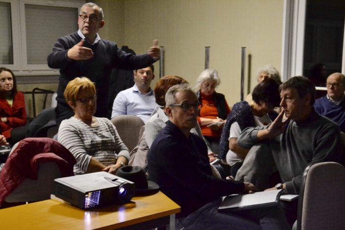 AG de l'Office de tourisme - février 2018 - Le président de la Communauté de communes, Hervé Lefebvre, rappelant l'engagement de la collectivité auprès de l'OT