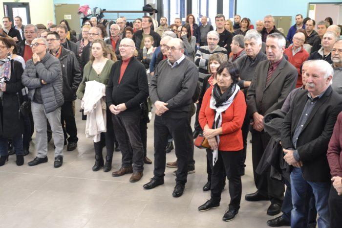 Inauguration salle polyvalente de Pompiac - février 2018 - Une assistante attentive durant les discours