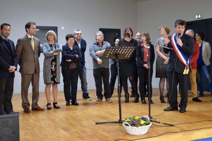 Inauguration salle polyvalente de Pompiac - février 2018 - La nouvelle scène reçoit ses premières vedettes