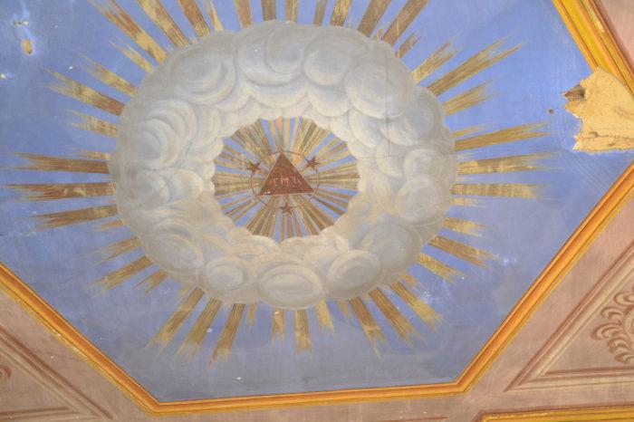 Polastron - Fresque au plafond de l'église de polastron