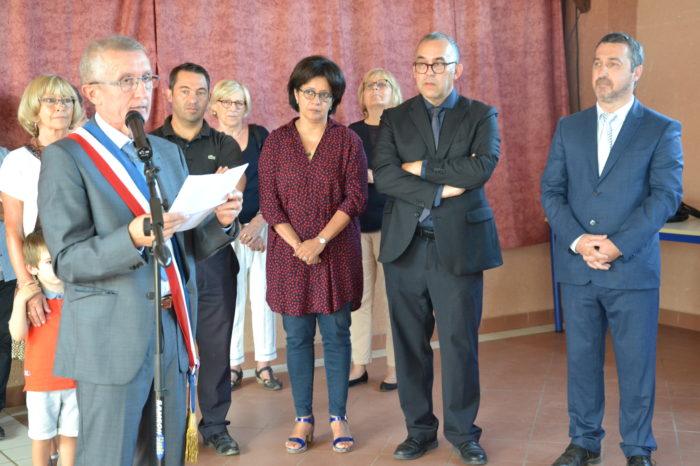 Logement communal restauré - Polastron septembre 2018 - Le temps des discours