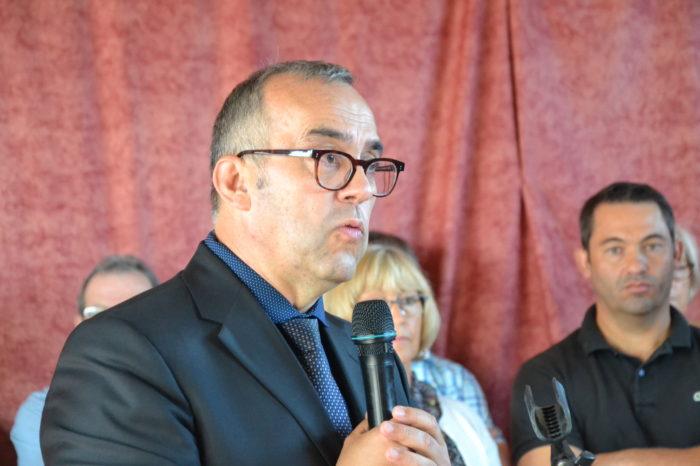 Logement communal restauré - Polastron septembre 2018 - Hervé Lefebvre, président de la Communauté de communes du Savès