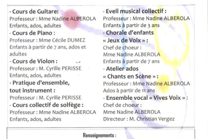 Cours de musique ecole des arts de Tournan
