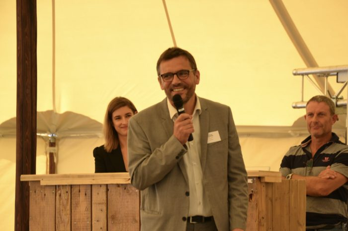 Inauguration silo Nataïs - septembre 2018 - Michaël Ehmann, un homme heureux