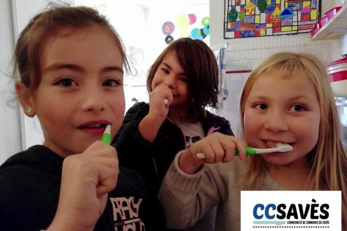 Hygiène bucco-dentaire étape 2 - janvier 2019 - À Monblanc aussi on se frotte les dents le midi - Crédit photo : Stéphane Moneta pour la Communauté de communes du Savès 32