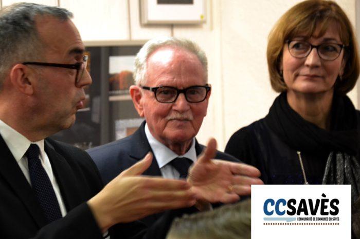 Vernissage expo enfants verdun - 1er février 2019-2 - Hervé Lefebvre, Norbert Falzon et Annie Clergue.