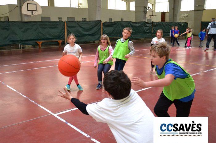 Rencontres basket inter-écoles - avril 2019-1 - Tournoi des CE2 de Montpézat, Polastron et Samatan à la Halle à la volaille de Samatan