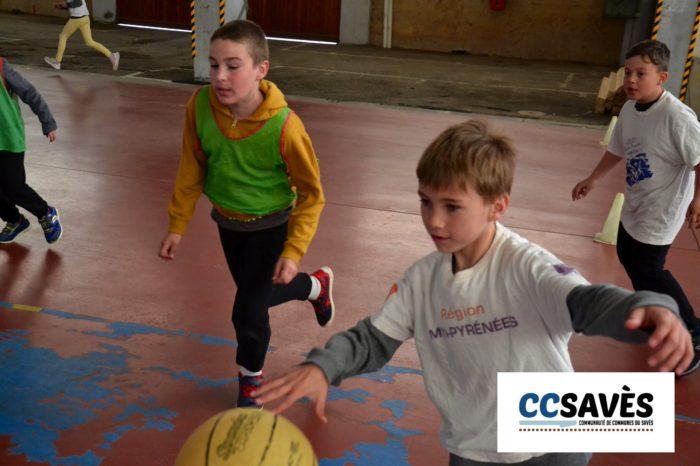 Rencontres basket inter-écoles - avril 2019-2 - Tournoi des CE2 de Montpézat, Polastron et Samatan à la Halle à la volaille de Samatan
