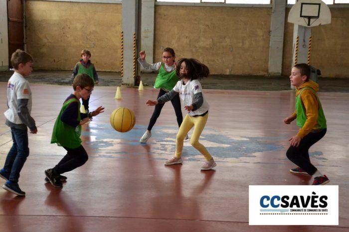 Rencontres basket inter-écoles - avril 2019 - Tournoi des CE2 de Montpézat, Polastron et Samatan à la Halle à la volaille de Samatan