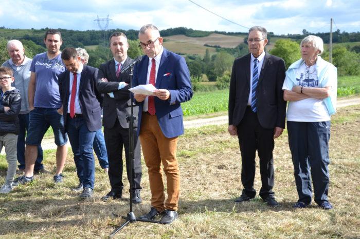 Carrefour de Montamat - juin 2019 - Hervé Lefebvre, président de la Communauté de communes