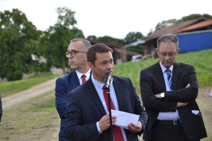 Carrefour de Montamat - juin 2019 - Jean-Pierre Cot, conseiller général et vice-président en charge des finances