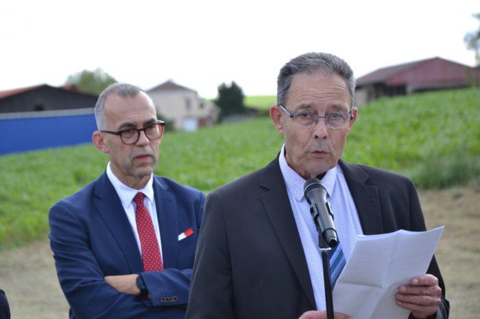 Carrefour de Montamat - juin 2019 - Alain Sancerry, vice-président à la voirie