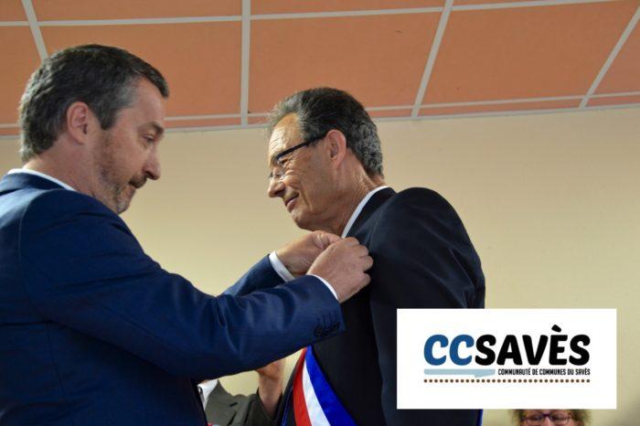 Inauguration mairie Pellefigue - juillet 2019-9 - Alain Sancerry décoré par Guy Fitzer