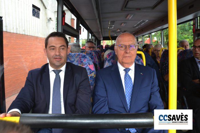Inauguration ligne 954 - septembre 2019-3 - Jean-Pierre Cot et Jean-Louis Guilhaumon.