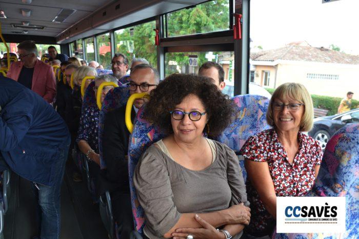 Inauguration ligne 954 - septembre 2019-4 - Fatma Adda et Yvette Ribes