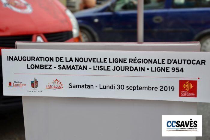 Inauguration ligne 954 - septembre 2019