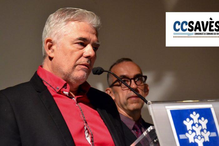 Journée RAM du Gers - septembre 2019-5 - Thierry Saint-Luc, président de la CAF 32, et Hervé Lefebvre, président de la Communauté de communes