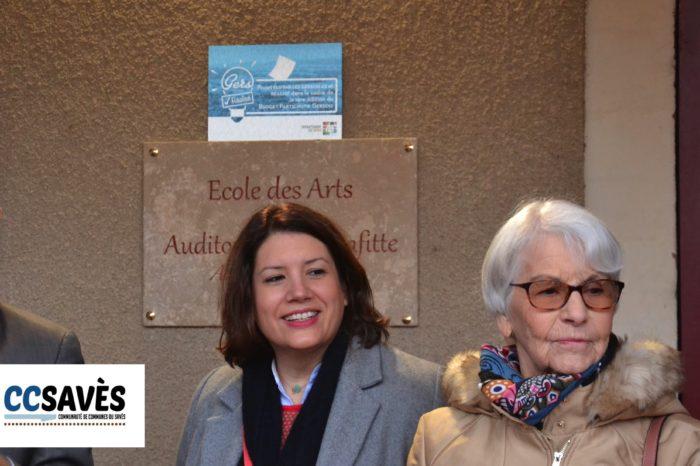 Auditorium Tournan - Décembre 2019-6 - Colombe Lafitte, la femme du célèbre saxophoniste ne pouvait manquer cet instant