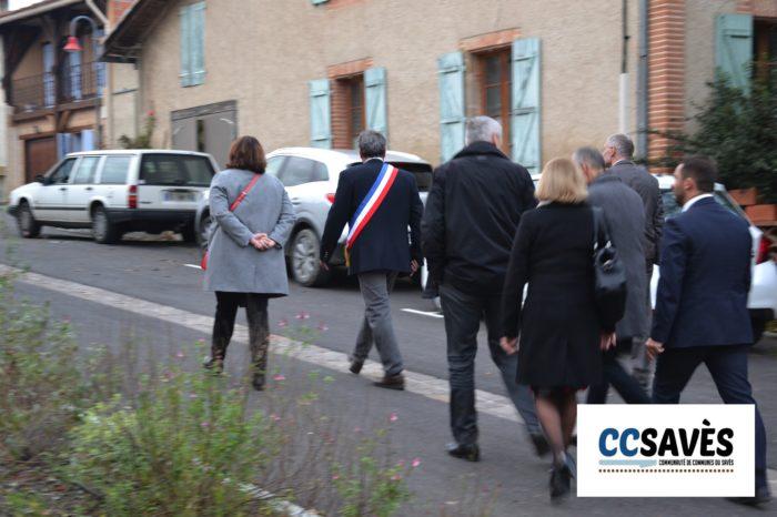 Auditoriym Tournan - décembre 2019 - Jean-Luc Mimouni emmène les élus visiter son centre bourg aménagé