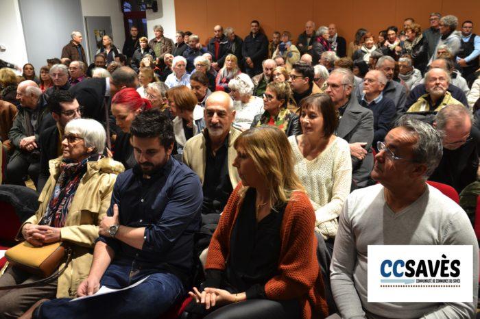 Auditorium tournan - décembre 2019-2 - La foule des grands jours à Tournan avec au premier rang (de gauche à droite) Colombe Lafitte et son petit fils