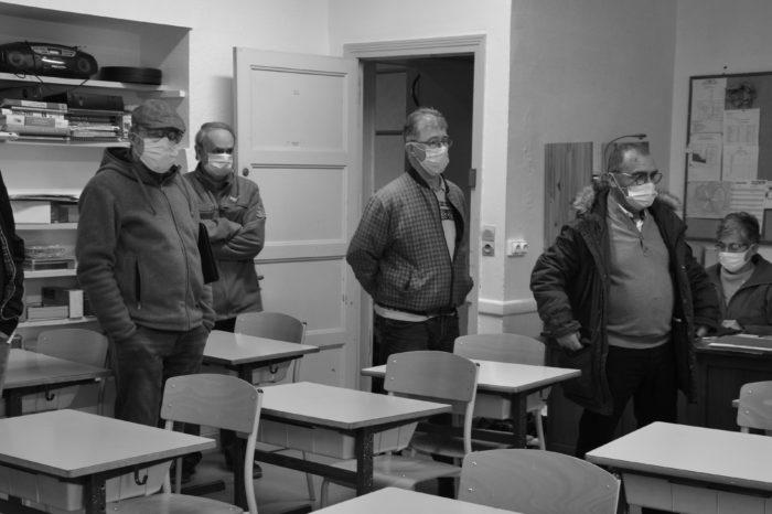 Visite école Yves Chaze de Samatan par les élus le 26/01/21 - Dans une classe élémentaire