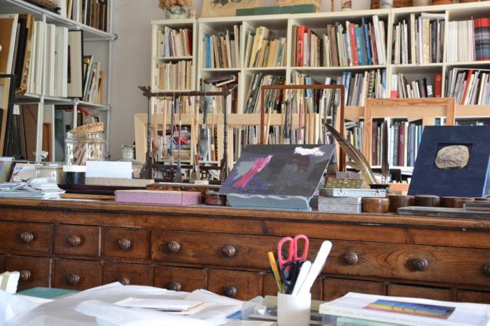 Anne Pourny - Les métiers d'artiste - juin 2021 - Une partie de l'atelier