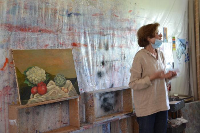 Anne Pourny - Les métiers d'artiste - juin 2021 - La toute première toile...